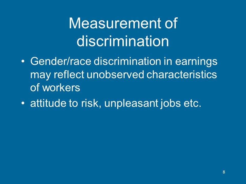 Measurement of discrimination