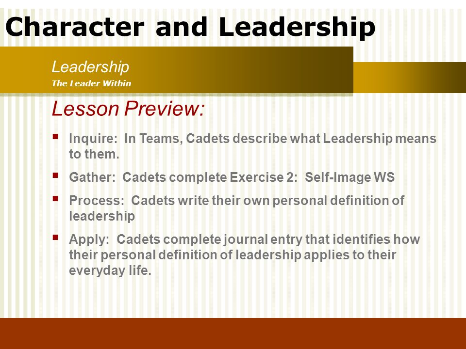 Lesson Preview: Leadership