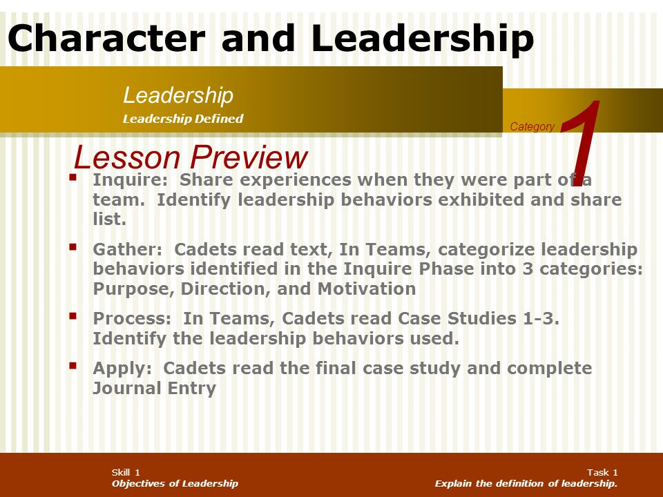 1 Lesson Preview Leadership