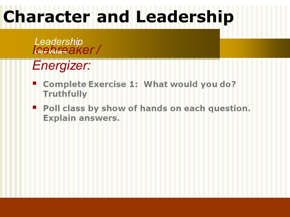 Icebreaker / Energizer: