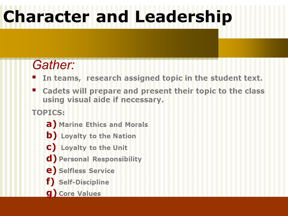 Gather: In teams, research assigned topic in the student text.