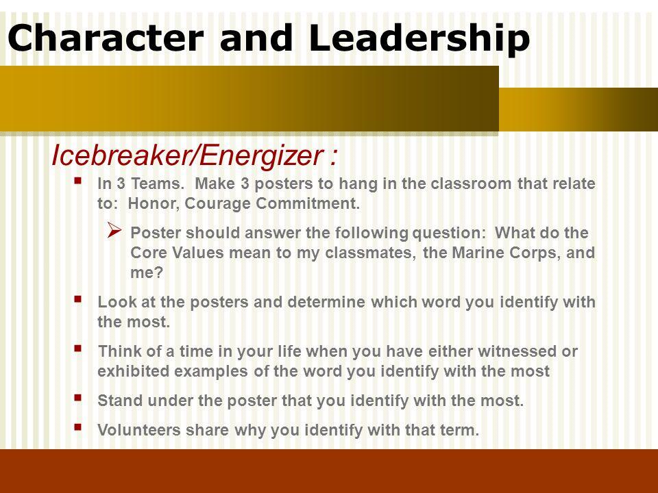 Icebreaker/Energizer :