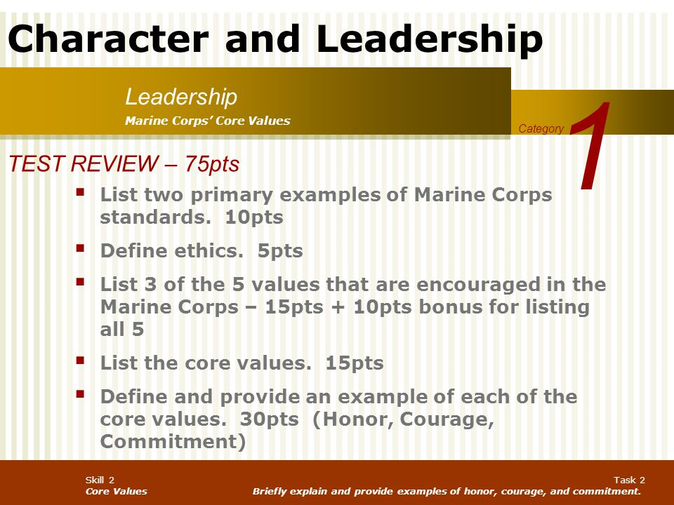 1 Leadership TEST REVIEW – 75pts