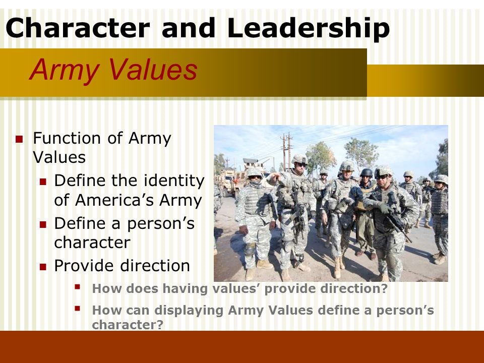 Army Values Function of Army Values