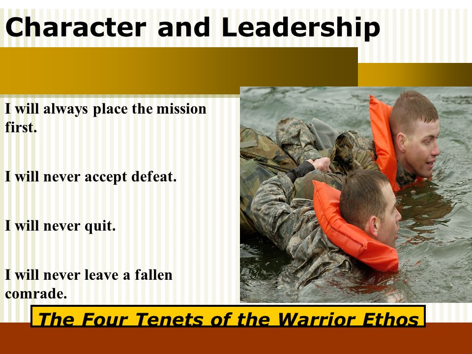 The Four Tenets of the Warrior Ethos