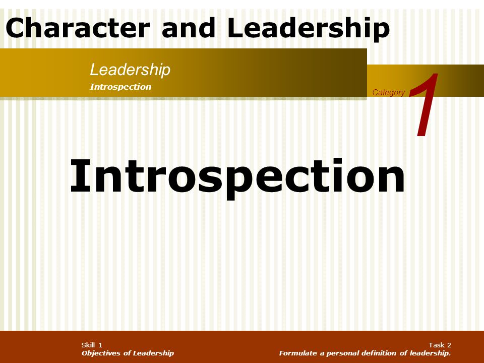 1 Introspection Leadership Introspection Category