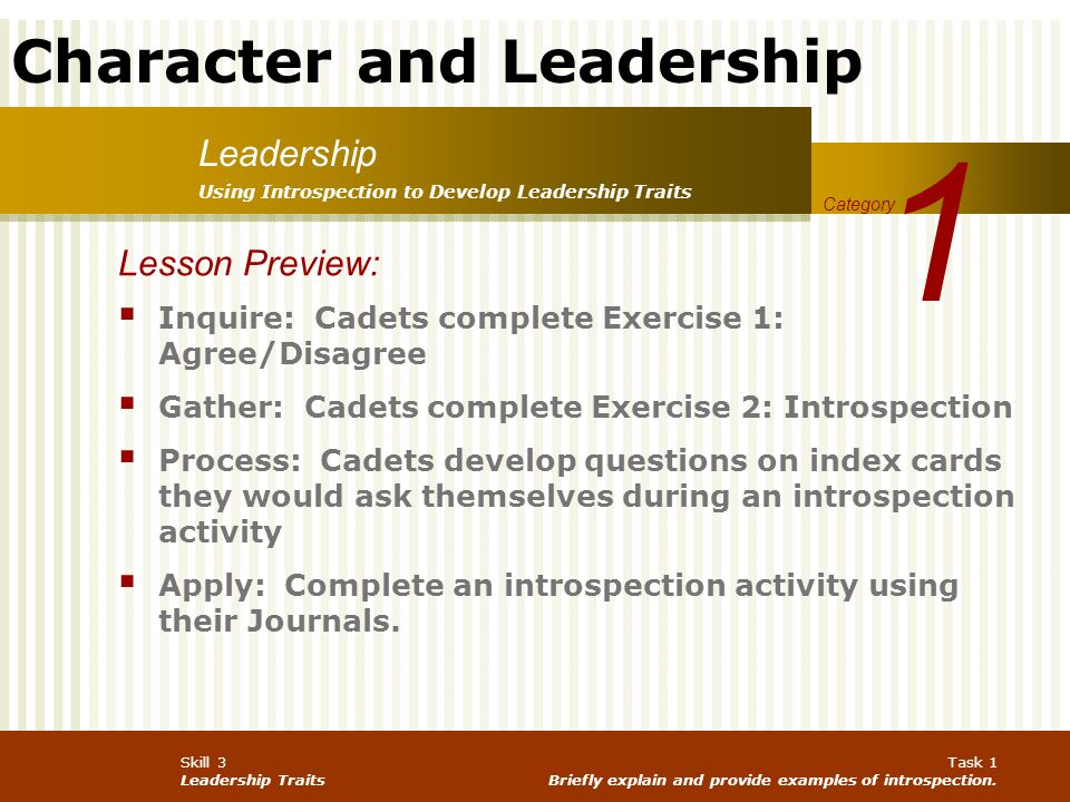 1 Leadership Lesson Preview: