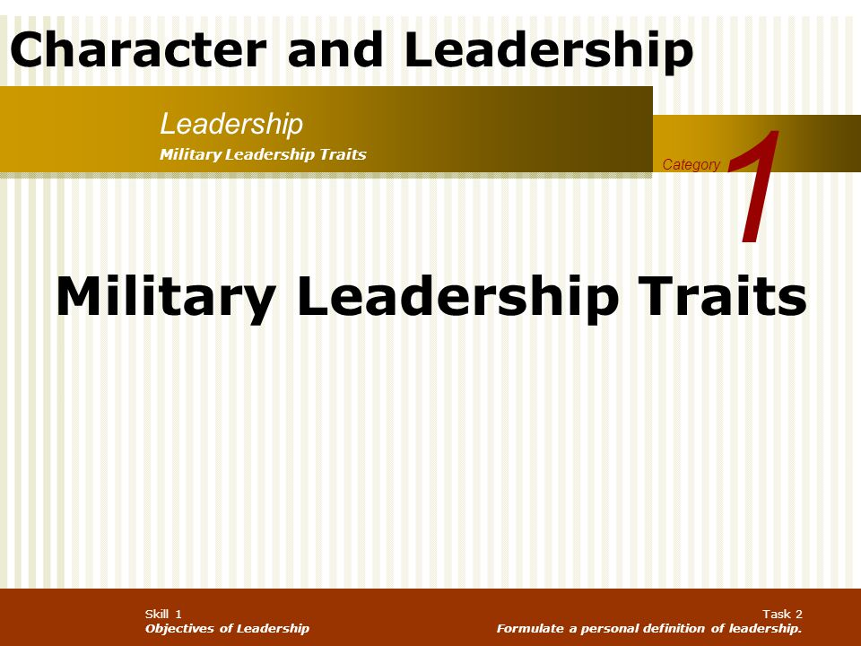 Military Leadership Traits