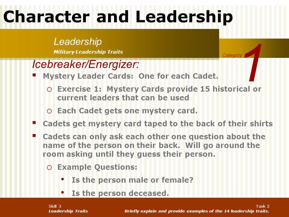 1 Icebreaker/Energizer: Leadership
