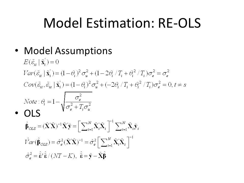 Model Estimation: RE-OLS