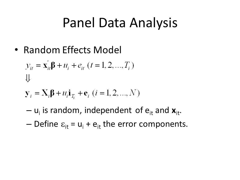 Panel Data Analysis Random Effects Model