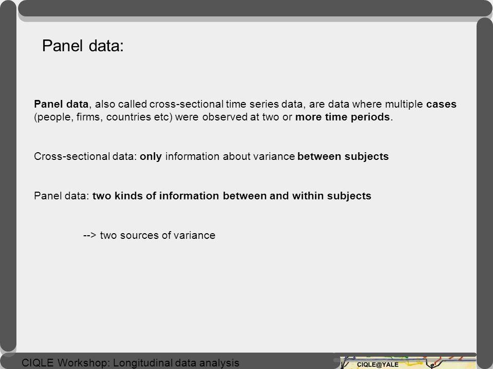 Panel data: