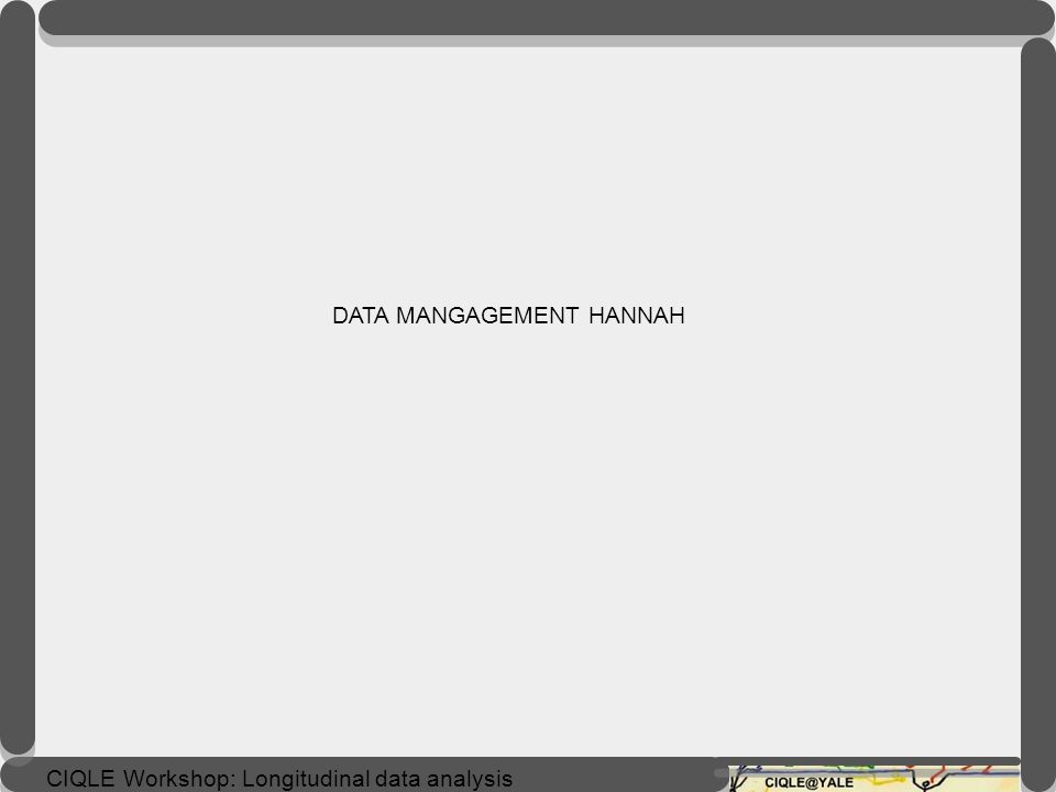 DATA MANGAGEMENT HANNAH