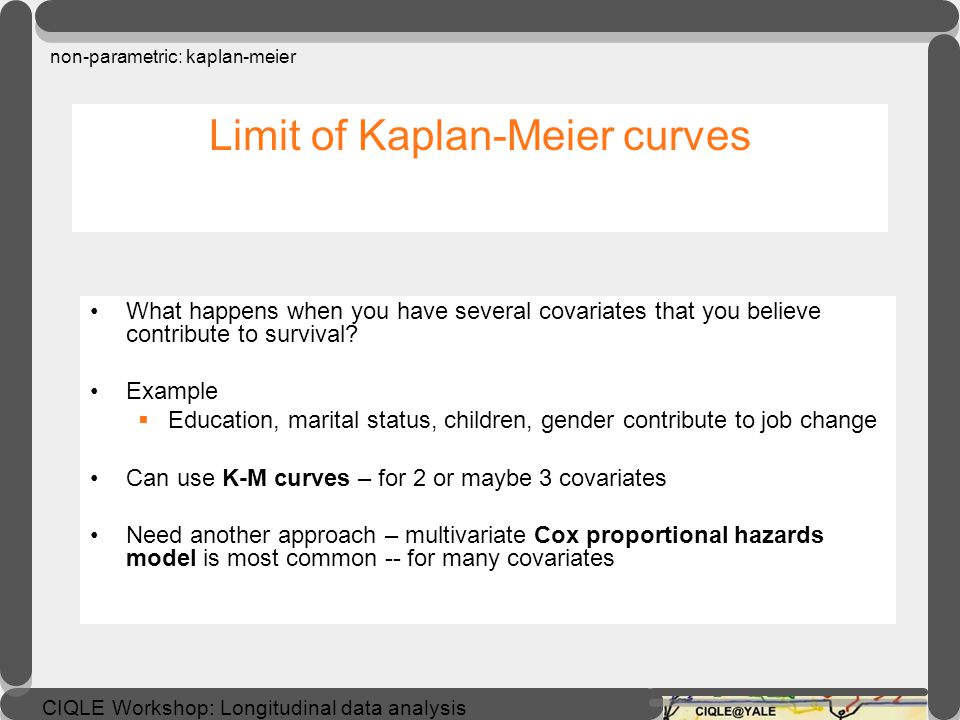 Limit of Kaplan-Meier curves