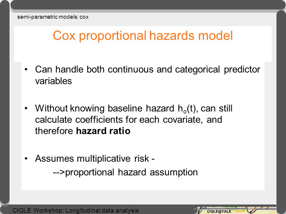Cox proportional hazards model
