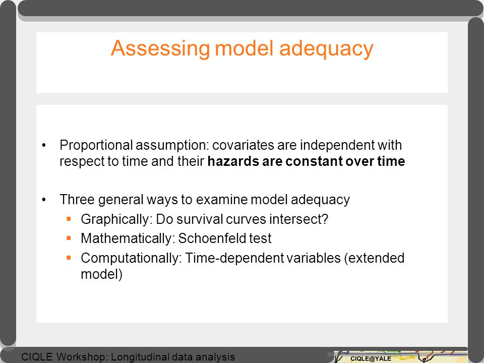 Assessing model adequacy