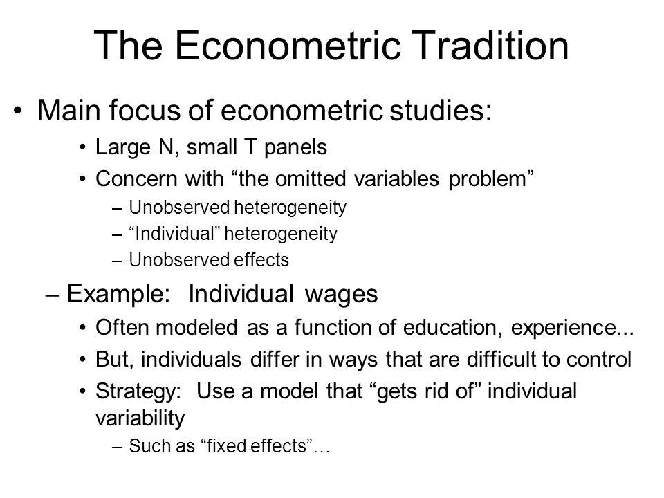The Econometric Tradition