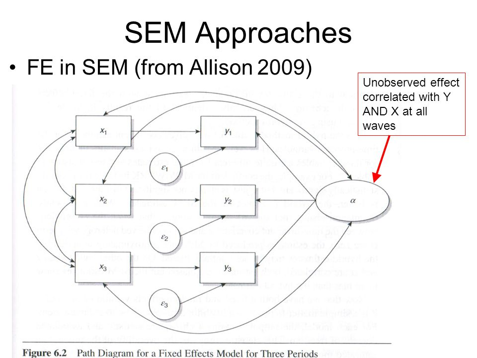 SEM Approaches FE in SEM (from Allison 2009)