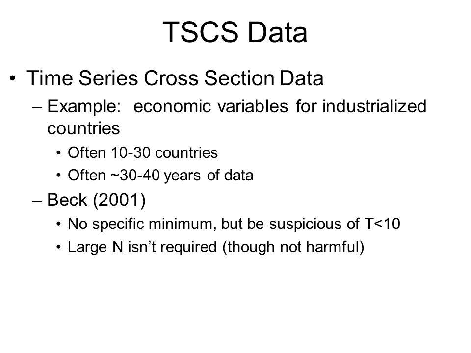 TSCS Data Time Series Cross Section Data