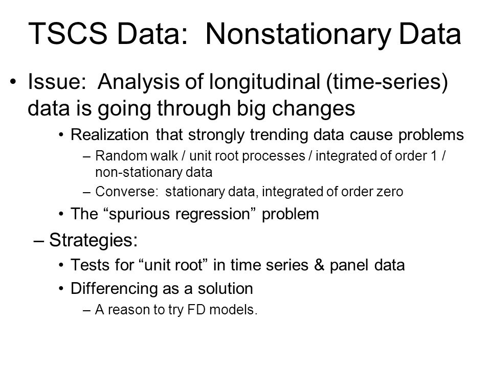 TSCS Data: Nonstationary Data