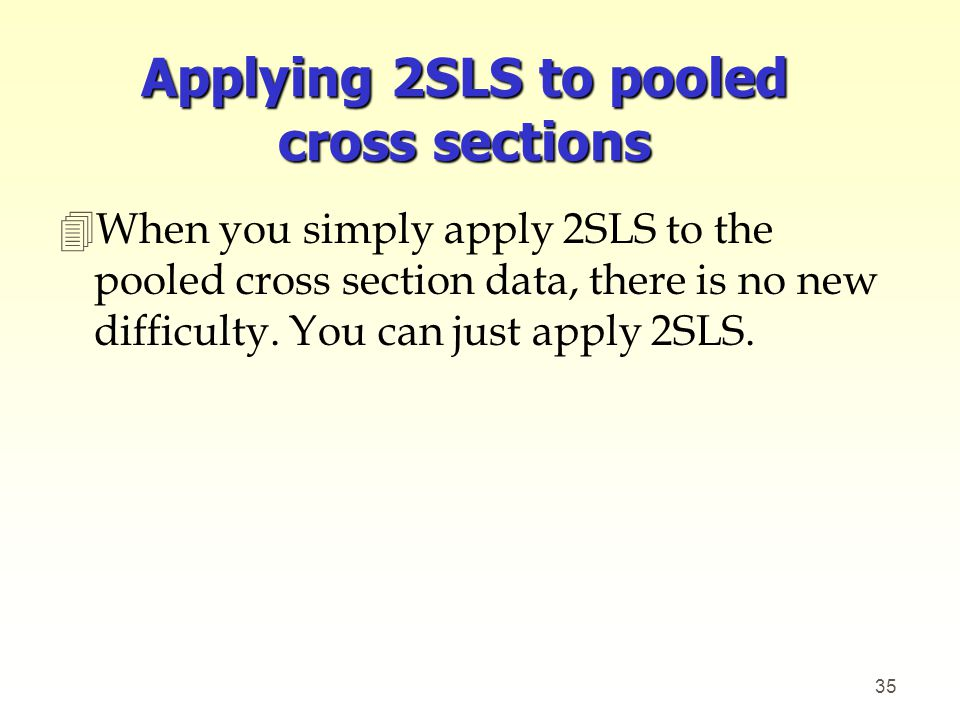 Applying 2SLS to pooled cross sections