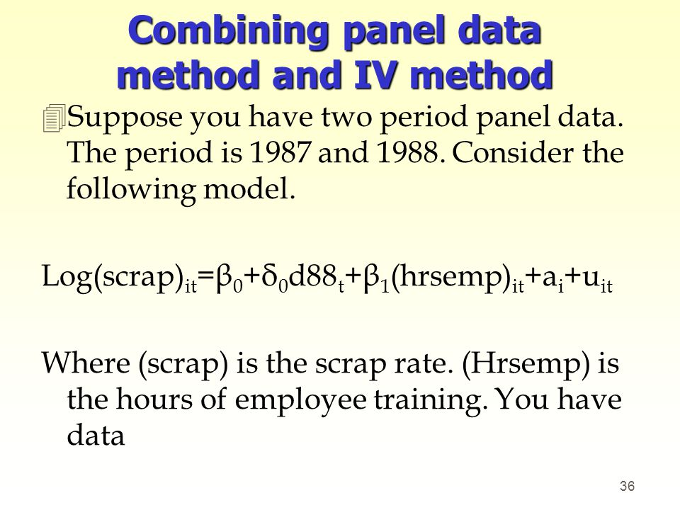 Combining panel data method and IV method