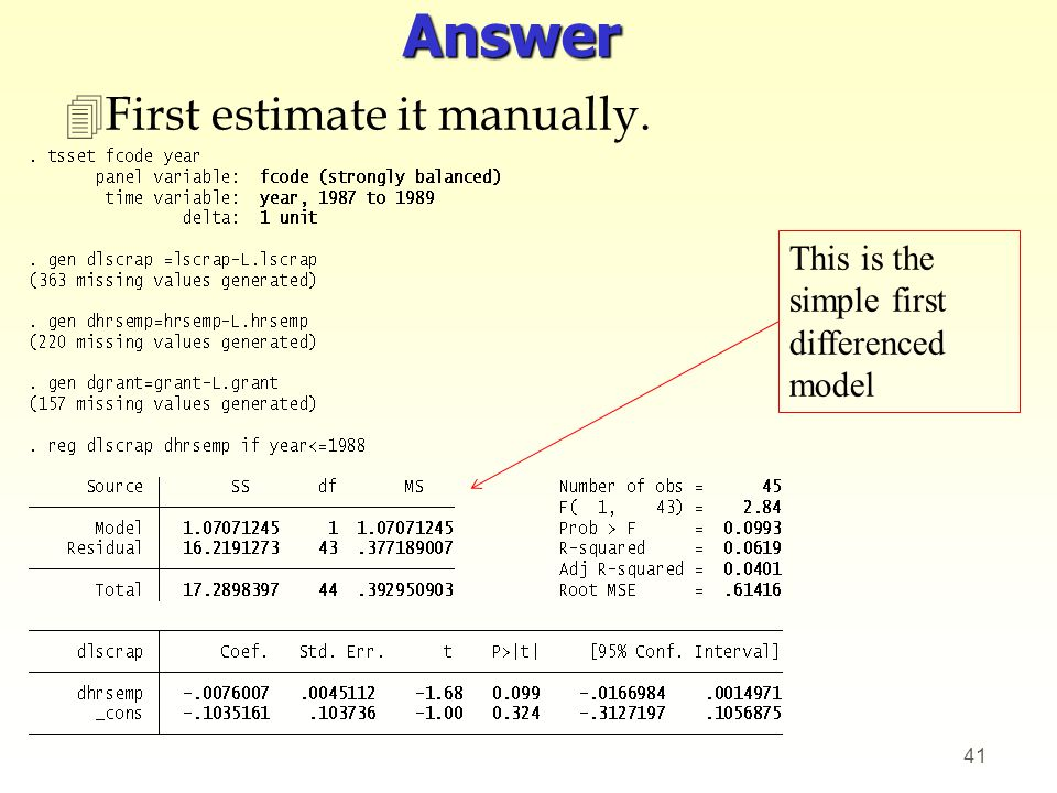 Answer First estimate it manually.