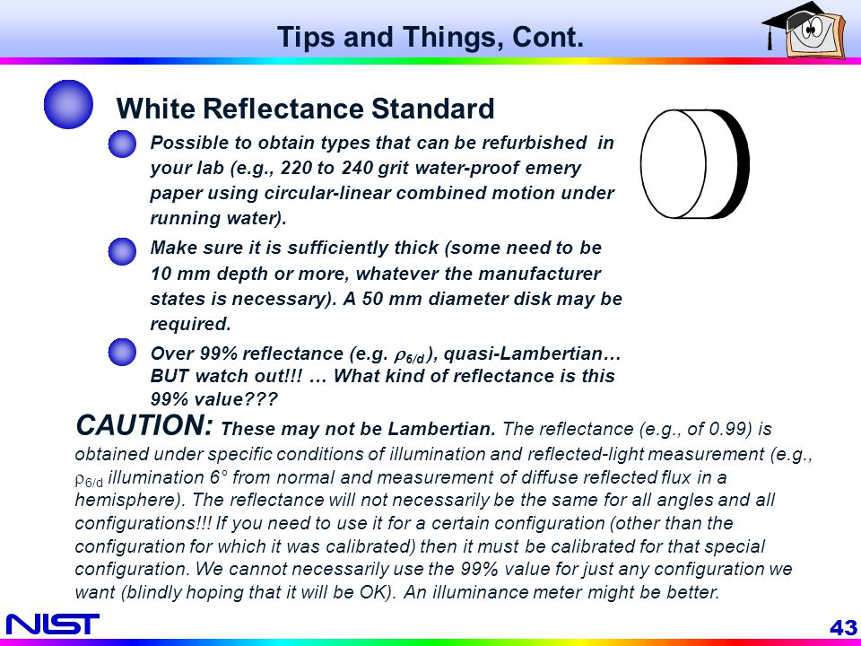 White Reflectance Standard