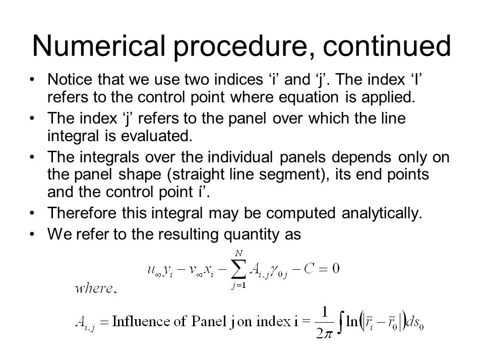 Numerical procedure, continued
