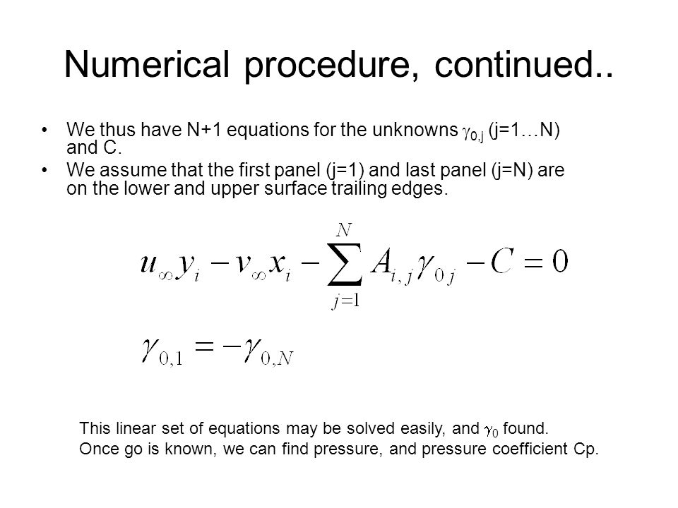 Numerical procedure, continued..