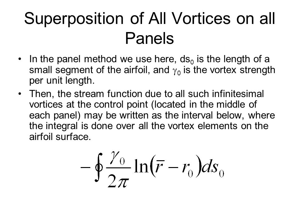 Superposition of All Vortices on all Panels