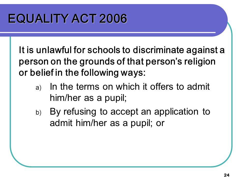 EQUALITY ACT 2006