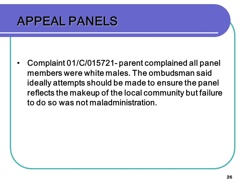 APPEAL PANELS
