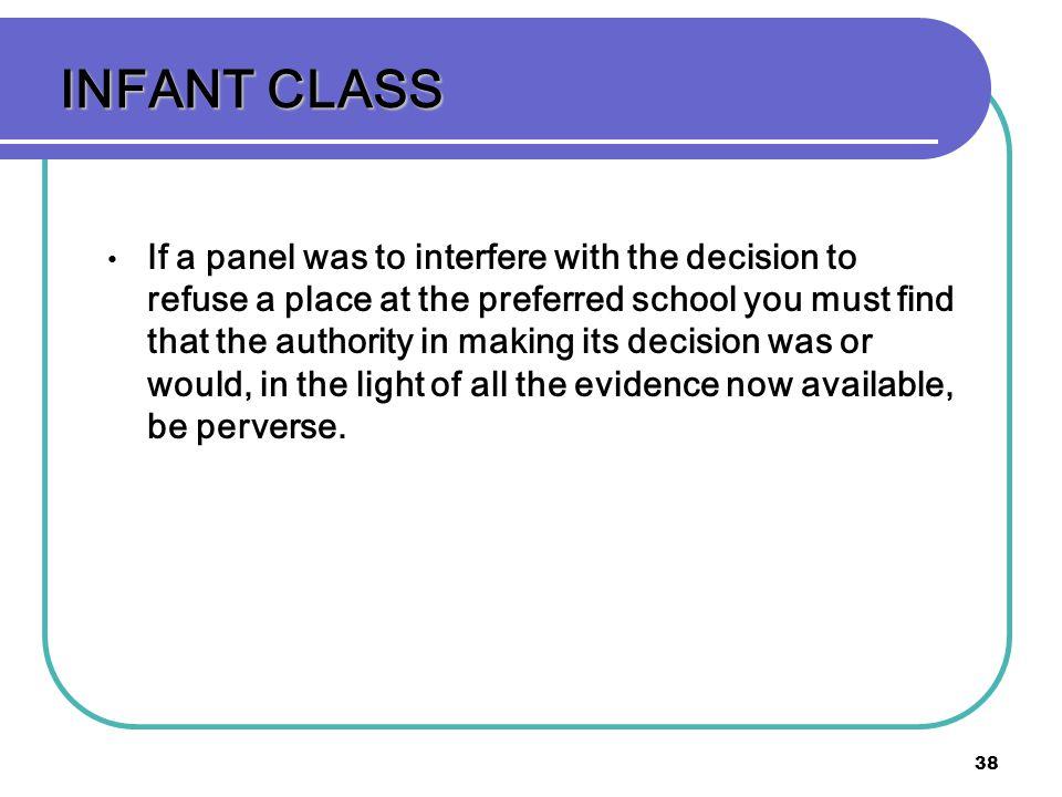 INFANT CLASS