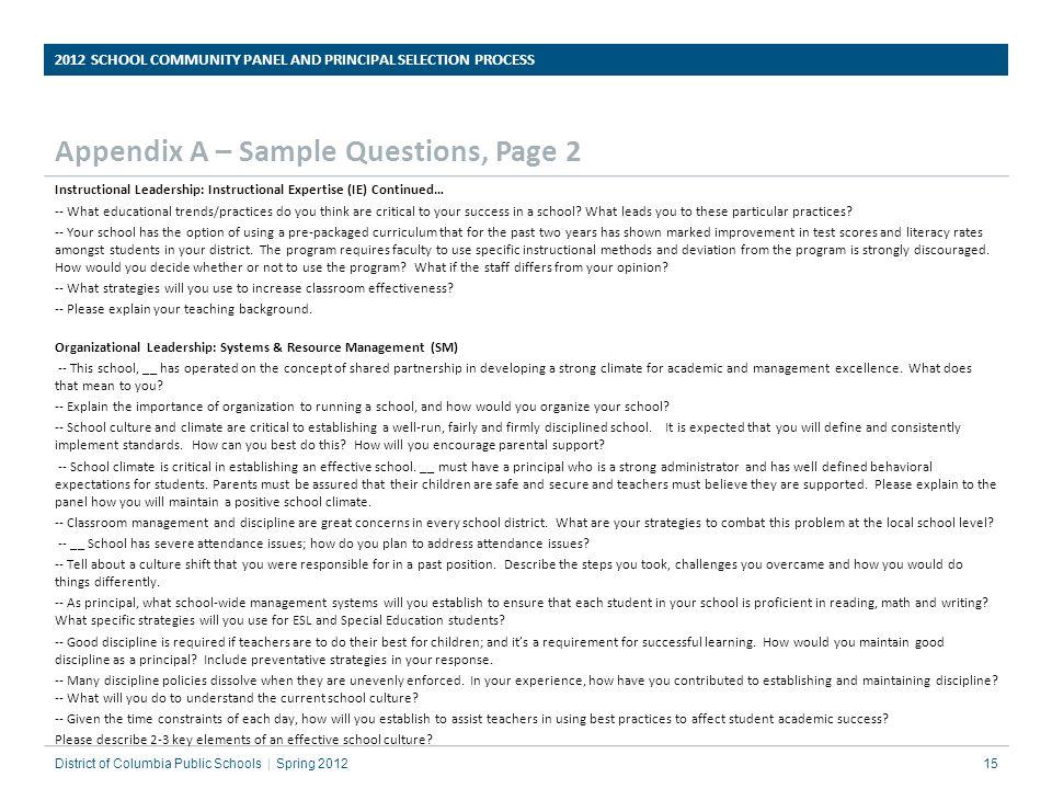 Appendix A – Sample Questions, Page 2