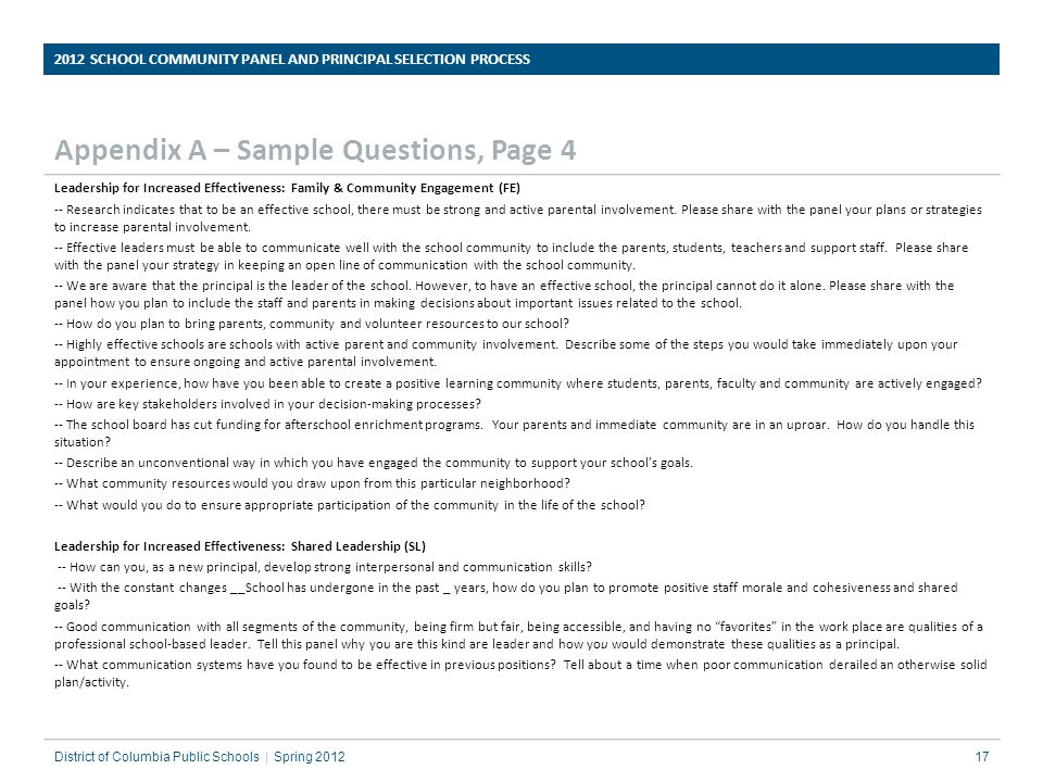 Appendix A – Sample Questions, Page 4