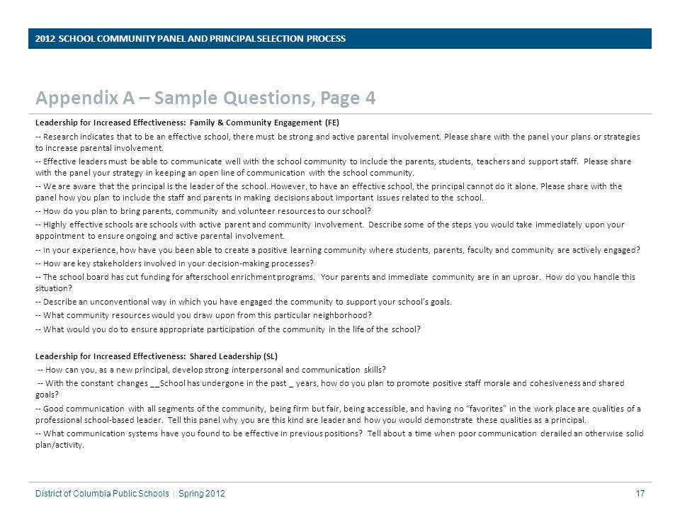 Appendix A – Sample Questions, Page 4