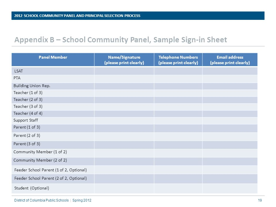 2012 School Community Panel And Principal Selection Process - Ppt