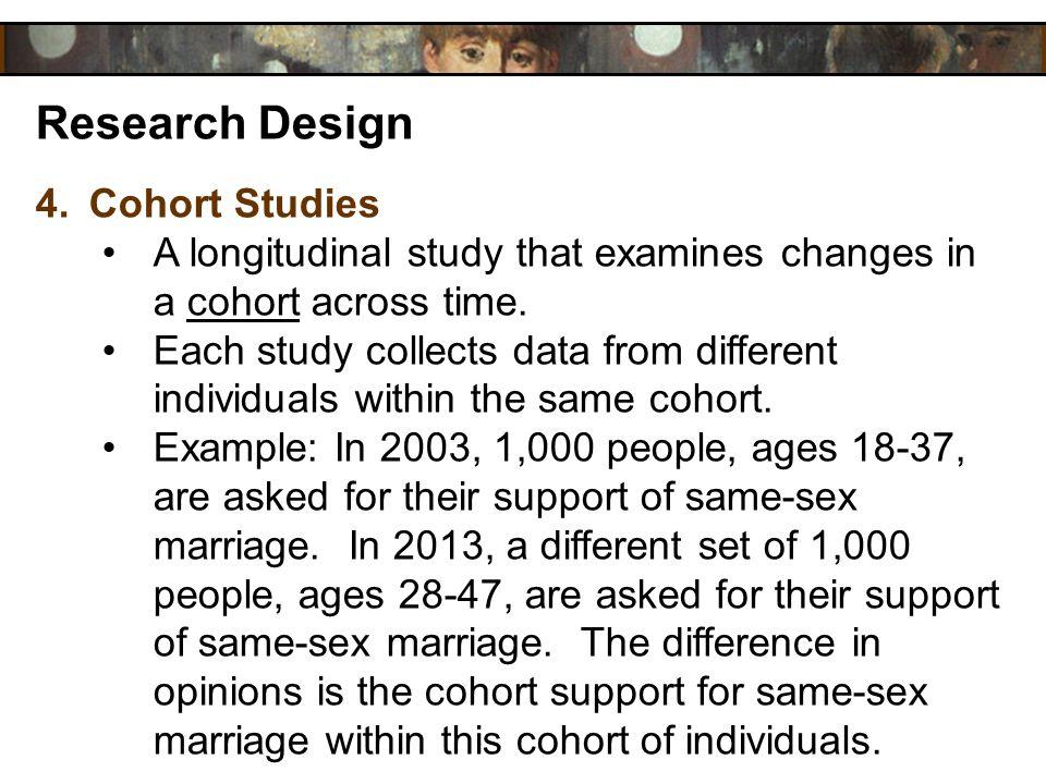 Research Design Cohort Studies