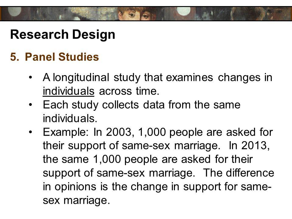Research Design Panel Studies
