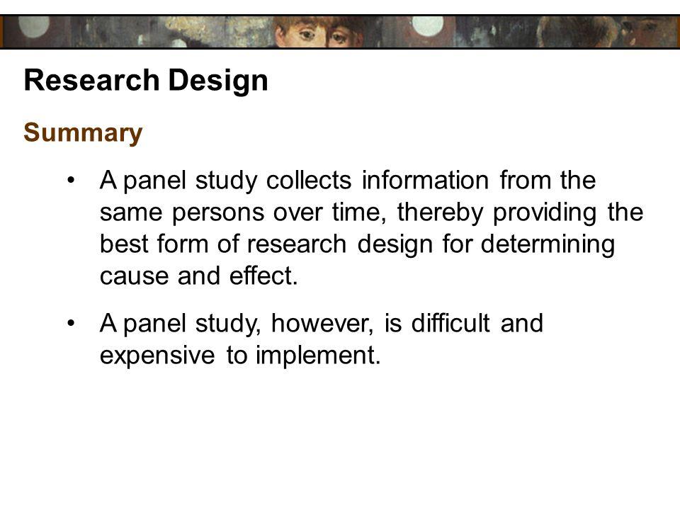 Research Design Summary