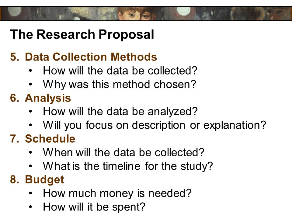 The Research Proposal Data Collection Methods