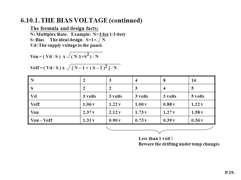6.10.1. THE BIAS VOLTAGE (continued)