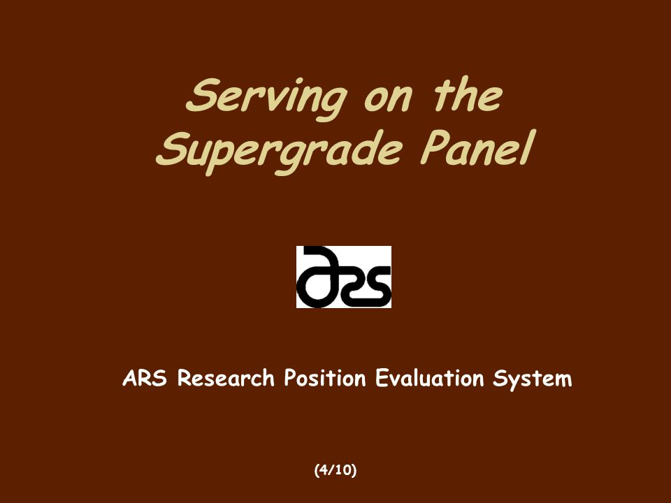 Serving on the Supergrade Panel
