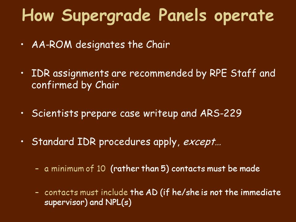 How Supergrade Panels operate