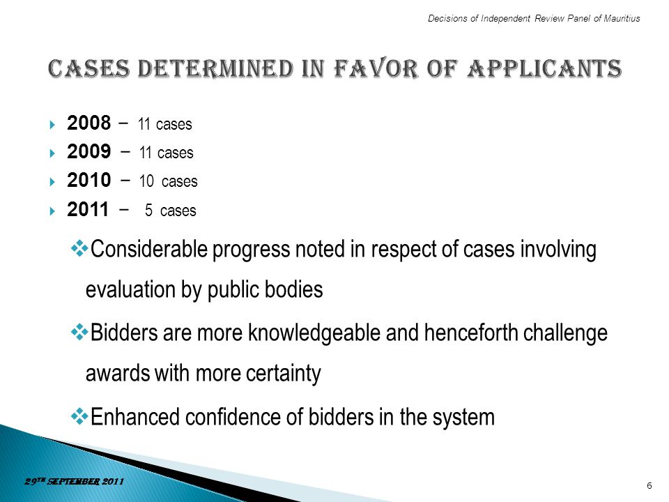 Cases determined in favor of applicants