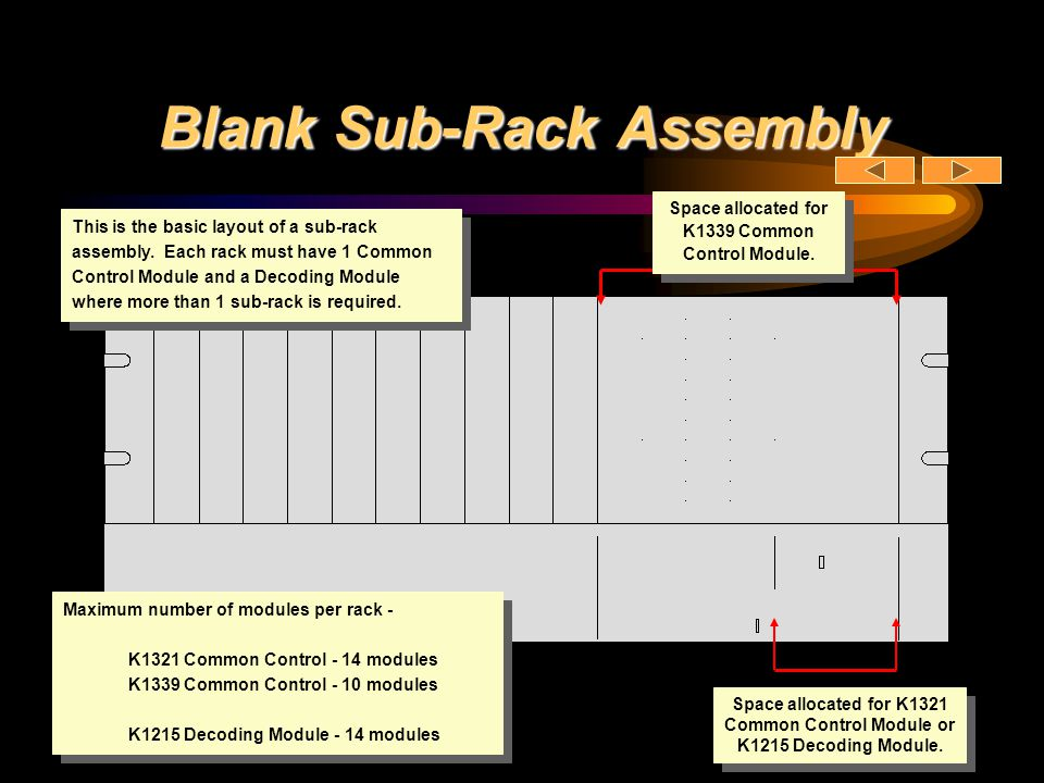 Blank Sub-Rack Assembly