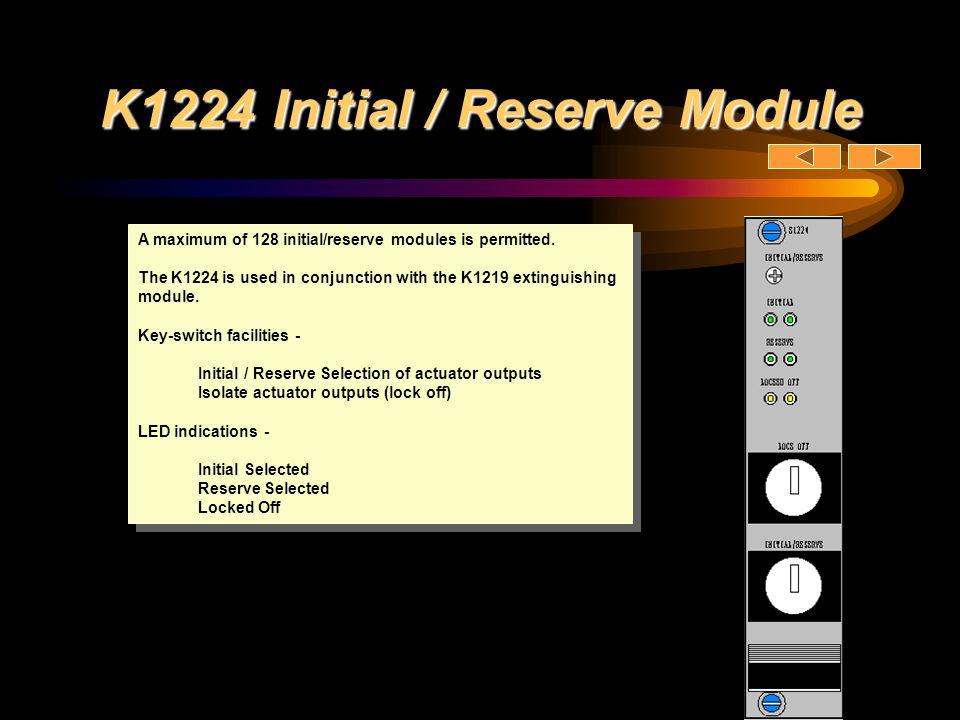 K1224 Initial / Reserve Module