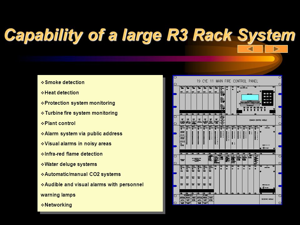 Capability of a large R3 Rack System