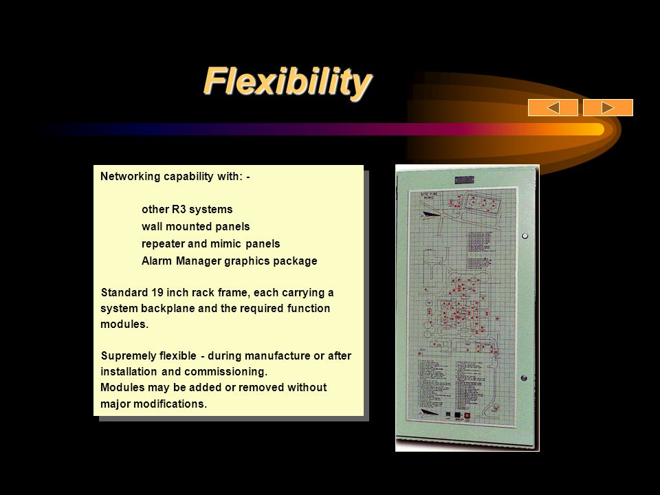 Flexibility Networking capability with: - other R3 systems